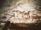 Höhle von Lascaux. Rechte Wand des axialen Divertikels. Ca. 17.000 v. Chr