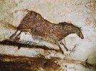 Höhle von Lascaux. Linke Wand des axialen Divertikels: Galoppierendes Pferd. Ca. 17.000 v. Chr