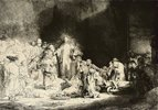 Christus heilt die Kranken. Das Hundertguldenblatt