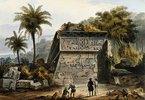 Ruinen der Pyramide von Xochicalco (Ruinas de la Piramide de Xochicalco), aus 'Voyage pittoresque et archéologique dans la partie la plus intéressante du Méxique'. Erschienen 1839?
