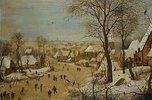 Winterlandschaft mit Eisläufern