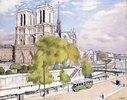 Paris, die Seine und Notre Dame