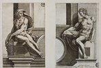 Ignudo (nach Michelangelo's dem Deckenfresko in der Sixtina)