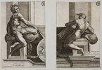 Ignudo (nach Michelangelo's Deckenfresko in der Sixtina)
