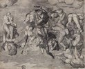 Sturz der Verdammten. (nach Michelangelo)