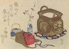 Stillleben mit Requisiten für die Teezubereitung