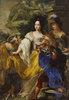 Minerva, Merkur und Plutus huldigen der Kurfürstin Anna Maria Luisa de' Medici. Nach