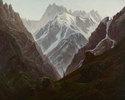 Hochgebirge. Kopie nach Caspar David Friedrich