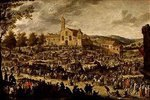 Jahrmarkt vor S.Maria dell'Impruneta bei Florenz (nach Callot)