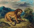 Löwe und Schlange (Le lion et le serpent)