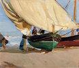 Fischer, verankerte Boote, Valencia