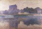 Die Kirche von Vernon im Nebel. / Eglise de Vernon, Brouillard