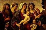Sacra Conversazione. (Maria mit Jesuskind und Heiligen)