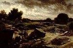 Abendlandschaft mit Felsen