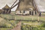 Die Laakmolen bei Den Haag (Die Windmühle). Juli