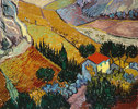 Landschaft mit Haus und Pflüger