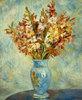 Gladiolen in einer blauen Vase (Glaieuls au Vase Bleu)