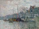 Blick auf die Prins Hendrikkade und die Kromme Waal in Amsterdam