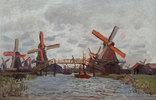Windmühlen in Westzijderveld in der Nähe von Zaandam