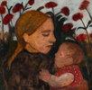 Junge Frau mit dem Kind