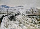 Zug im Schnee bei Argenteuil