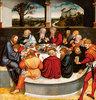 Reformationsaltar, Mitteltafel der Vorderseite: Martin Luther unter den Aposteln beim Abendmahl