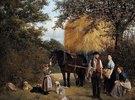 Feierabend der Landarbeiterfamilie