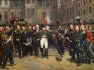 Abschied Napoleons aus Fontainebleau am 20.April 1814. Entstanden