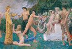 Christus im Olymp. 1897. (Detail)