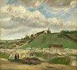 Hügel von Montmartre mit Steinbruch. Paris, Juni - Juli