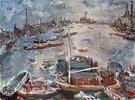 London, die Themse von Chelsea Reach gegen Osten gesehen