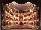Innenansicht des Cuvillies-Theaters in München. (Originalfotografie)