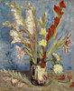 Vase mit Gladiolen und Astern