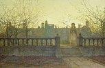 Lady Bountifulle beim Verlassen eines Altersheimes in abendlicher Herbstsonne