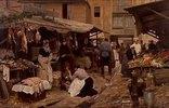Szene auf einem französischen Markt