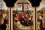 Altar mit Beweinung Christi, sowie den Hll.Hugo und Katharina und Stiftern
