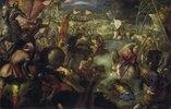 Francesco II.Gonzaga kämpft in der Schlacht am Taro gegen Karl VIII. von
