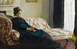 Meditation. Madame Monet auf einem Canapé