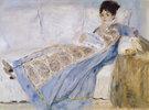 Madame Monet auf dem Sofa