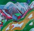 Berglandschaft mit Alphütte