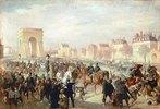 Einzug der deutschen Truppen mit Bismarck in Paris am 3.März