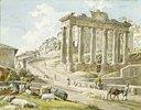 Das Forum Romanum beim Saturntempel