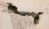 Italienische Landschaft mit Kloster