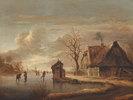 Winterlandschaft mit Bauernhaus