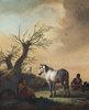 Pferde und Schafe auf einer Weide