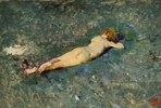 Weiblicher Akt im Wasser
