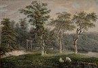 Baum- und Weidenlandschaft
