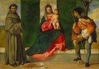 Die Jungfrau mit dem Kind zwischen den hll. Rochus und Antonius