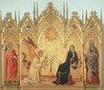 Verkündigung Mariae. Seitenflügeln: die hll.Ansanus und Julitta