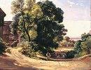 Gehöft unter Bäumen (Dachau-Etzenhausen) 50-er Jahre